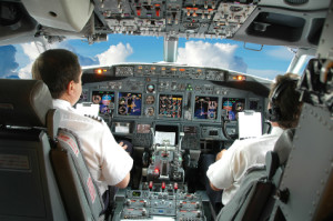 Airline Pilots in cockpit